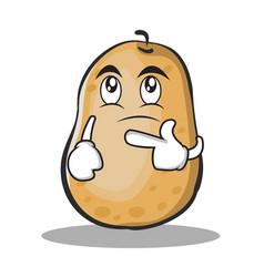 thinking potato character cartoon style vector image vector image