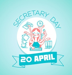 20 april secretary day vector