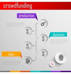 Infographic crowdfunding for web or print design vector image vector image