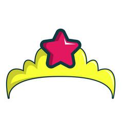 little princess crown icon cartoon style vector image vector image