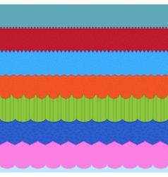 Set of 7 header backgrounds vector image vector image