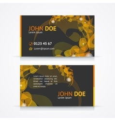 abstract geometric business card template vector image