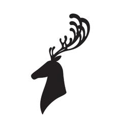 Deer head isolated elk vector