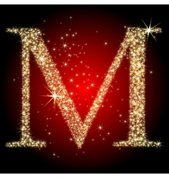 letter star m vector image vector image