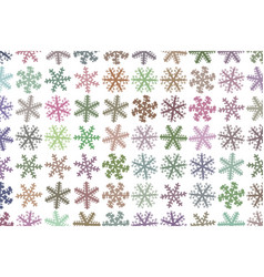 Abstract close-up of snow generative art vector