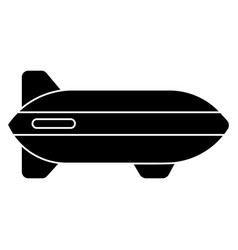 aerostat icon black sign on vector image