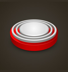 alarm button on black background vector image