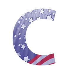 american letter C vector image