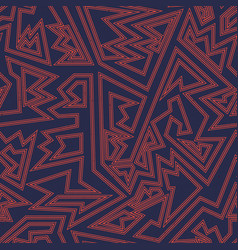 ancient red geometric pattern vector image
