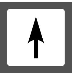Arrow Axis Y flat black and white colors rounded vector
