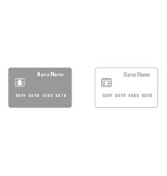 Bank cit card the grey set icon vector