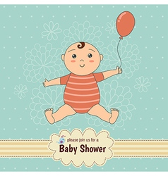 bashower card with a cute baby vector image