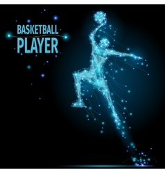 Basketball player polygonal vector image