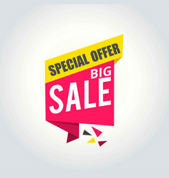 big sale super sale special offer banner vector image