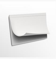 blank wall flip calendar isolated on background vector image