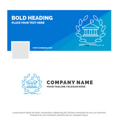 blue business logo template for bank banking vector image