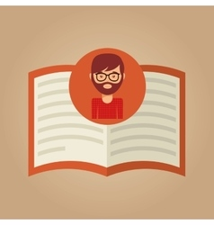 Book literature reading man hipster vector