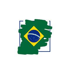 Brazil brush logo template design vector