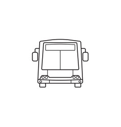 bus icon public transport symbol graphics vector image