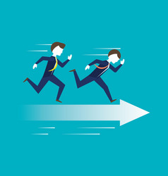 businessman running for achievement the success vector image
