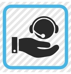 Call Center Service Icon In a Frame vector