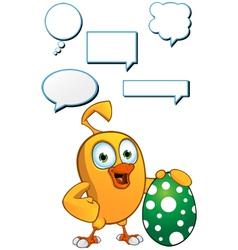 Cartoon Chick dialogue Set vector image