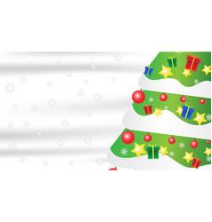 christmas tree snowflake gift composition on white vector image
