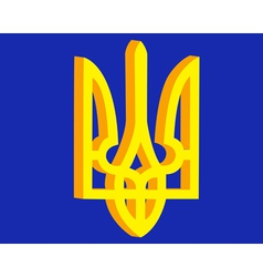 coat of arms of Ukraine vector image