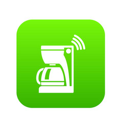 coffee maker icon green vector image