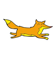 Comic cartoon running fox vector