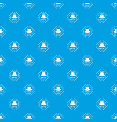 cylinder hat pattern seamless blue vector image