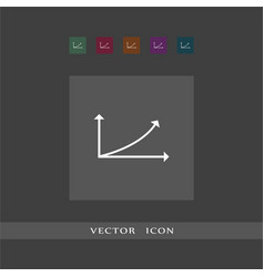 diagram icon simple sign business vector image
