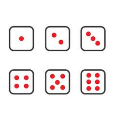 dice icon design template vector image