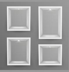 empty show window niche set abstract vector image