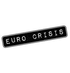 Euro Crisis rubber stamp vector image