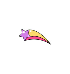 Falling star with tail background cool vector