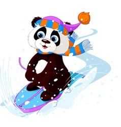 Fast fun Panda vector image