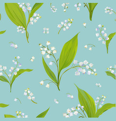 Floral seamless pattern with watercolor lily vector