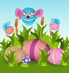 Fly eggs vector