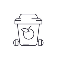 garbage recycling line icon concept garbage vector image