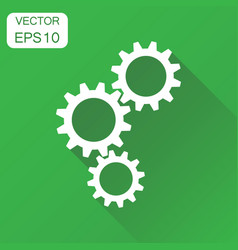 gear icon business concept cogwheel gear vector image