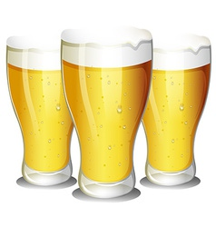 Glasses of beer vector image