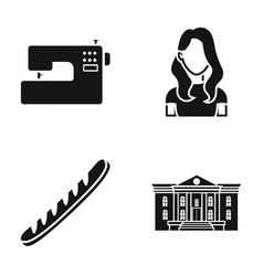 Hairdresser shop centre and other web icon in vector
