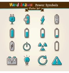 Hand Draw Power Symbols vector image