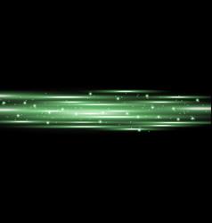 Horizontal lens flares lights green color vector