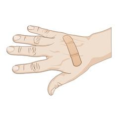 hurt hand vector image