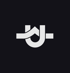 Initials au letter logo vector