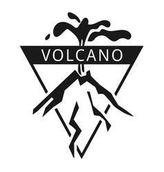 Island volcano logo simple style vector