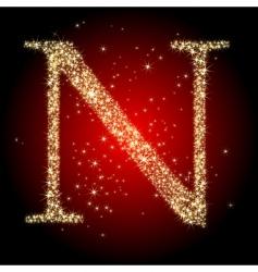 Letter star n vector