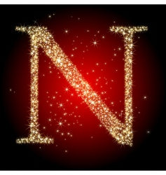 letter star n vector image